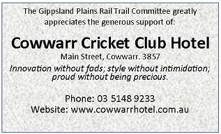 Sponsor Acknowledgement Cowwarr Hotel 60