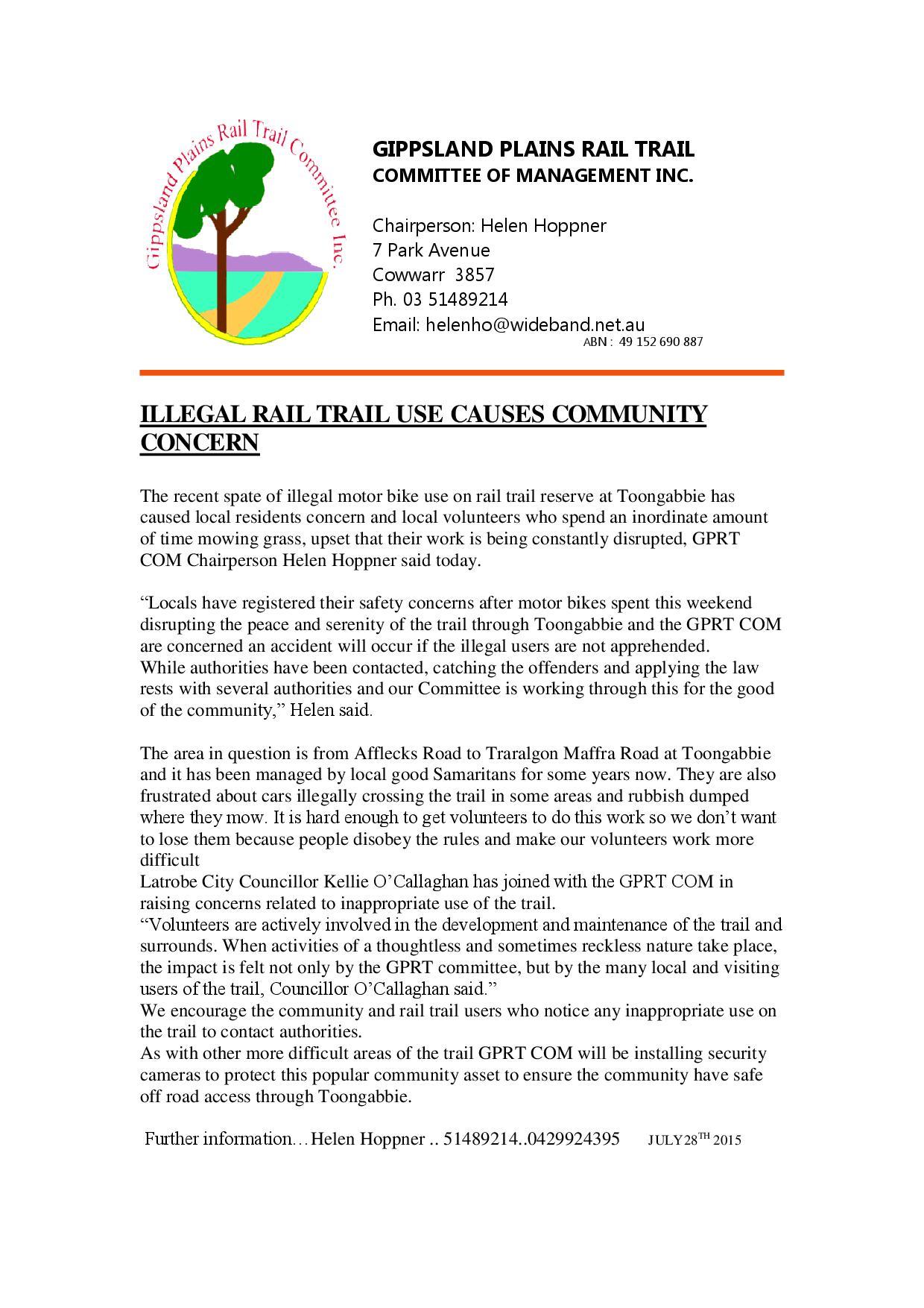 Press Release 28 July, 2015